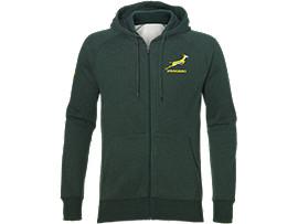SB ZIP HOODY, BOTTLE GREEN HEATHER