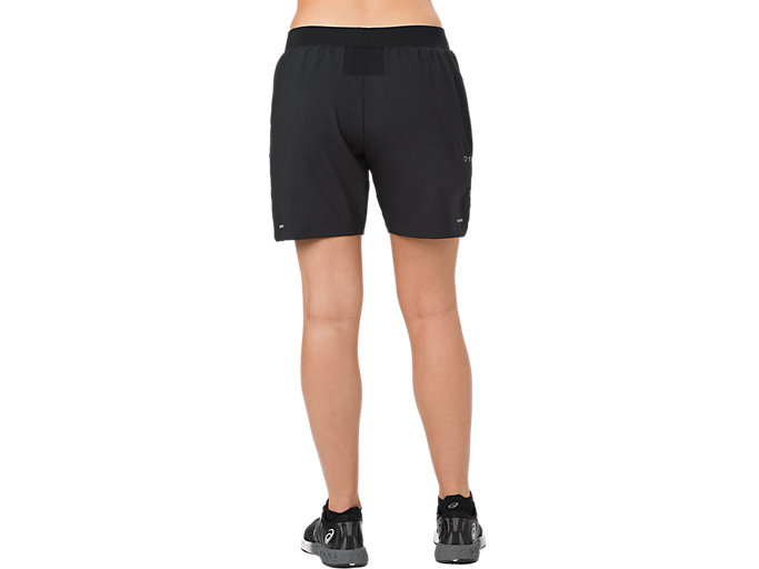 Back view of 7IN SHORT, PERFORMANCE BLACK