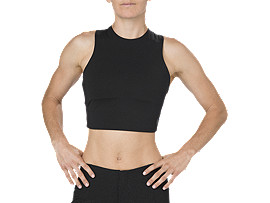 BEST CROP TANK TOP, PERFORMANCE BLACK