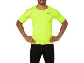 남성 무빙 하프 집업 반팔 티셔츠
