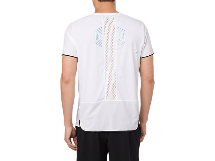 Back view of GEL-COOL SS TOP, BRILLIANT WHITE