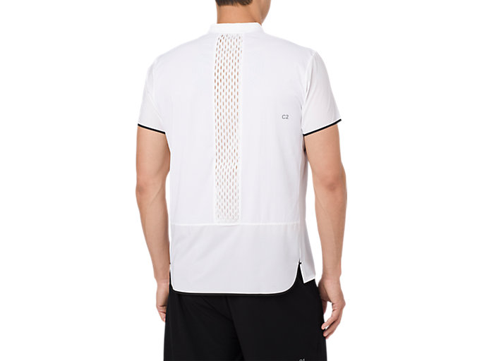 Back view of GEL-COOL PRFM POLO, BRILLIANT WHITE