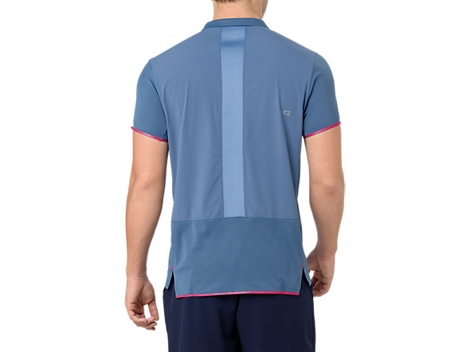 Back view of GEL-COOL PRFM POLO, AZURE