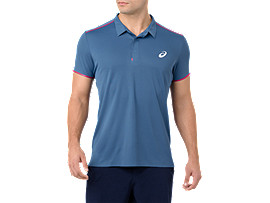 Front Top view of GEL-COOL PRFM POLO, AZURE