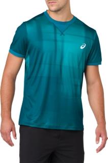 男裝網球印花短袖T恤