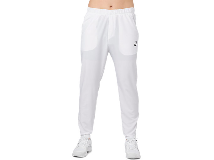 Front Top view of PANT, BRILLIANT WHITE