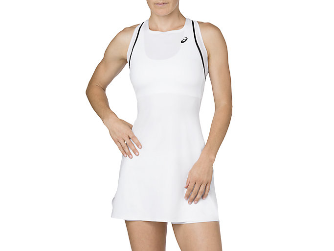 Front Top view of GEL-COOL DRESS, BRILLIANT WHITE