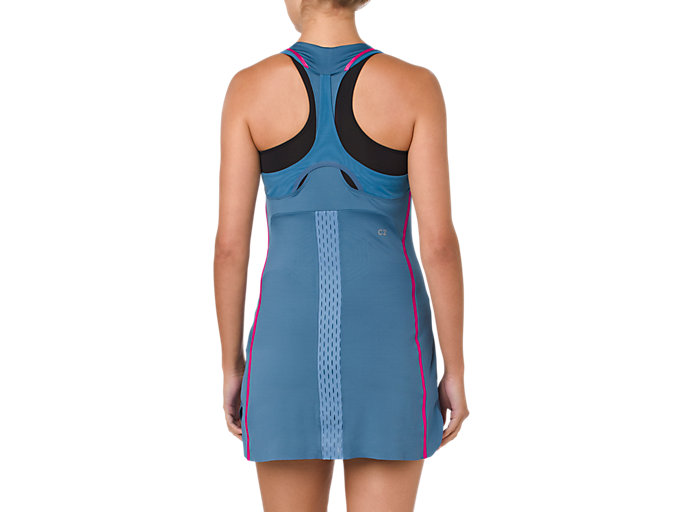 Back view of GEL-COOL DRESS, AZURE