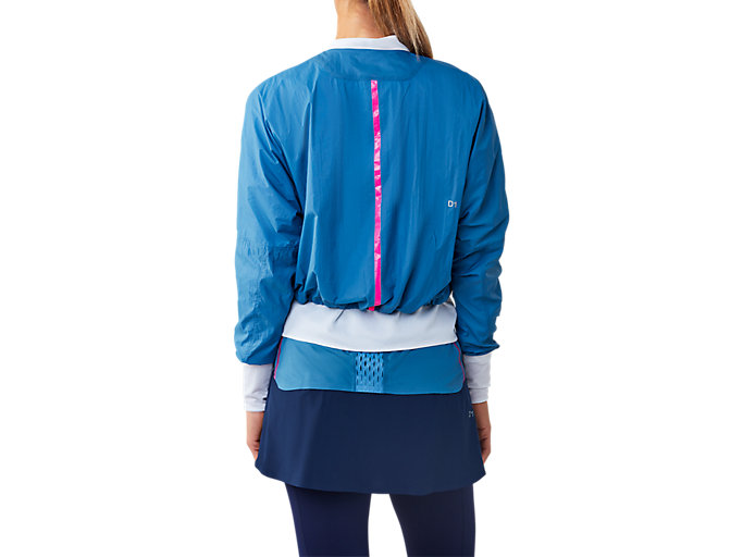 Back view of JACKET, AZURE