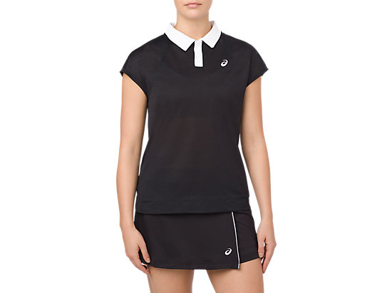 CLASSIC POLO TOP, PERFORMANCE BLACK