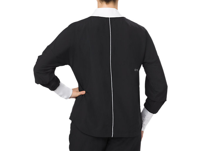 Back view of JACKET, PERFORMANCE BLACK