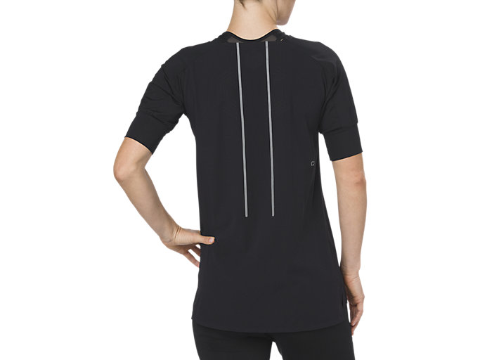 Back view of BEST SS TOP, PERFORMANCE BLACK