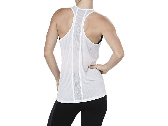 Back view of COOL TANKTOP, BRILLIANT WHITE