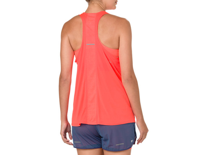 Back view of COOL TANKTOP, FLASH CORAL