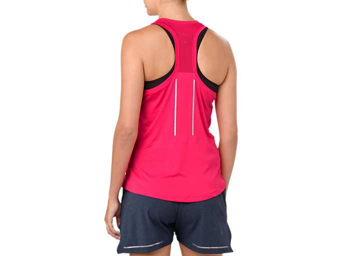 Back view of LITE-SHOW TANK, PIXEL PINK