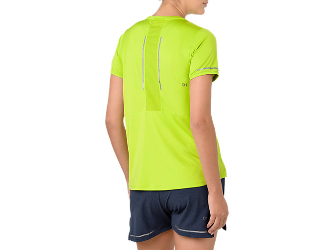 Back view of LITE-SHOW SS TOP, NEON LIME