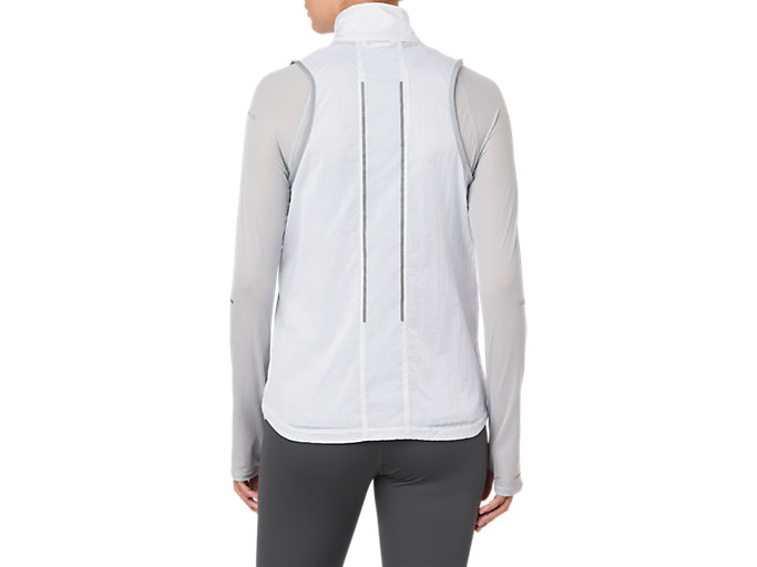 Back view of LITE-SHOW VEST, MID GREY