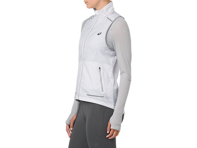 Side view of LITE-SHOW VEST, MID GREY