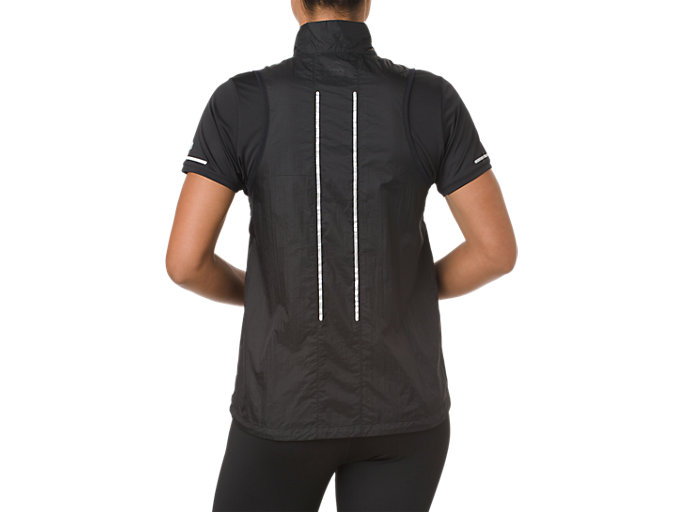 Back view of LITE-SHOW VEST, PERFORMANCE BLACK