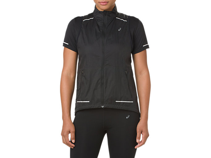 Front Top view of LITE-SHOW VEST, PERFORMANCE BLACK