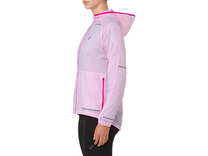 Side view of LITE-SHOW JACKET, PINK RAVE
