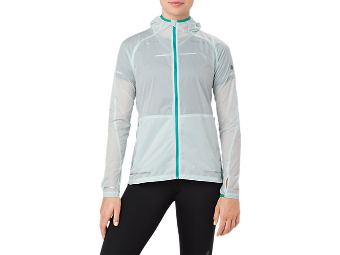 Front Top view of LITE-SHOW JACKET, LAKE BLUE