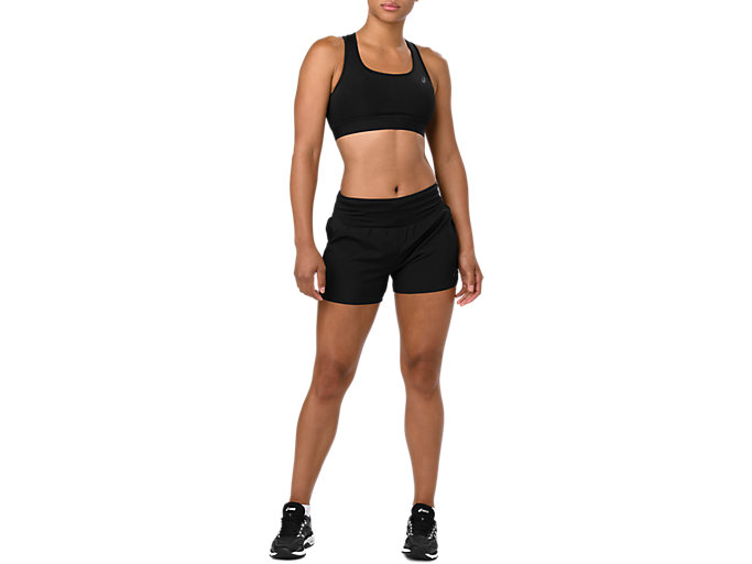 Front Top view of RUN BRA, SP PERFORMANCE BLACK