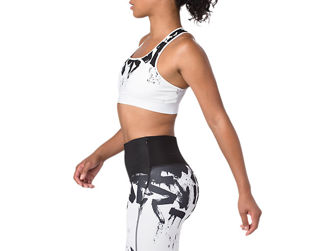 Alternative image view of RUN BRA, BRILLIANT WHITE/PERFORMANCE BLACK