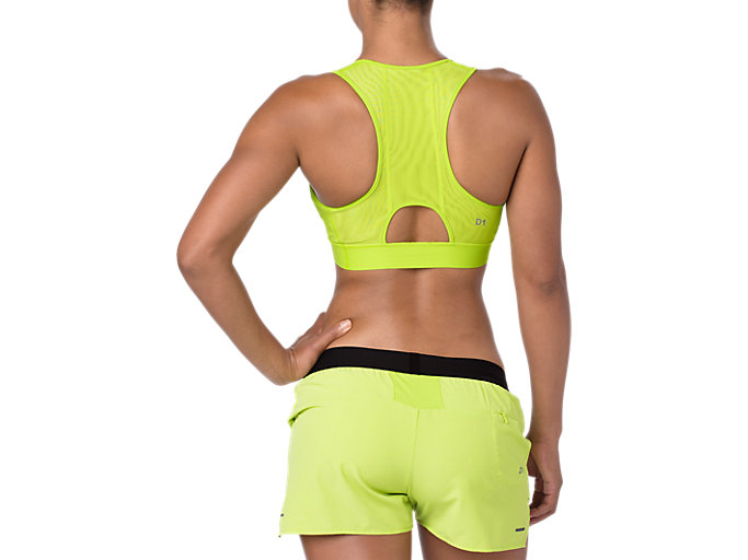 Back view of BRA, NEON LIME
