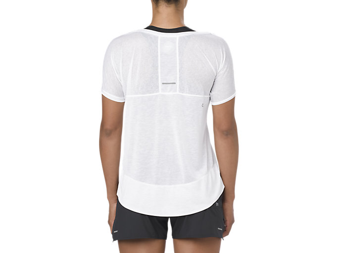 Back view of CROP TOP, BRILLIANT WHITE