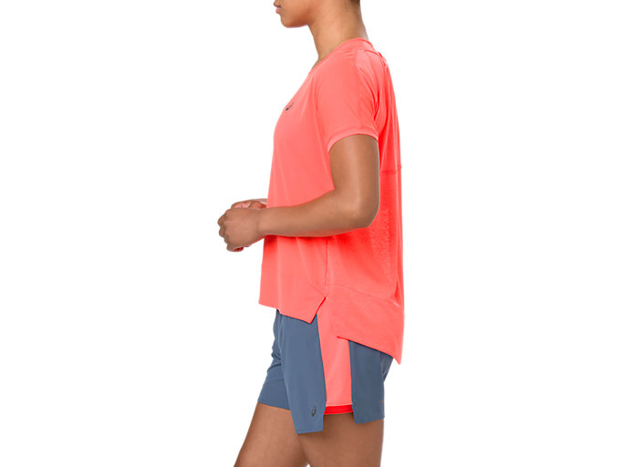 Side view of CROP TOP, FLASH CORAL