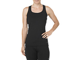 Fitted Trainingstanktop für Damen, SHADOW PERFORMANCE BLACK