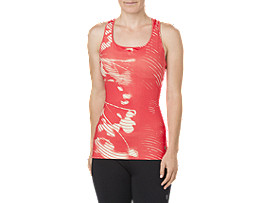 Fitted Trainingstanktop für Damen, SHADOW CORALICIOUS