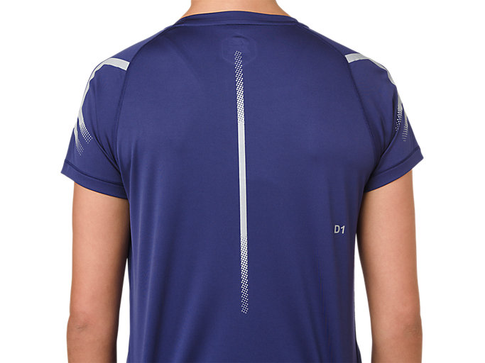 Alternative image view of ICON SS TOP, INDIGO BLUE/SILVER