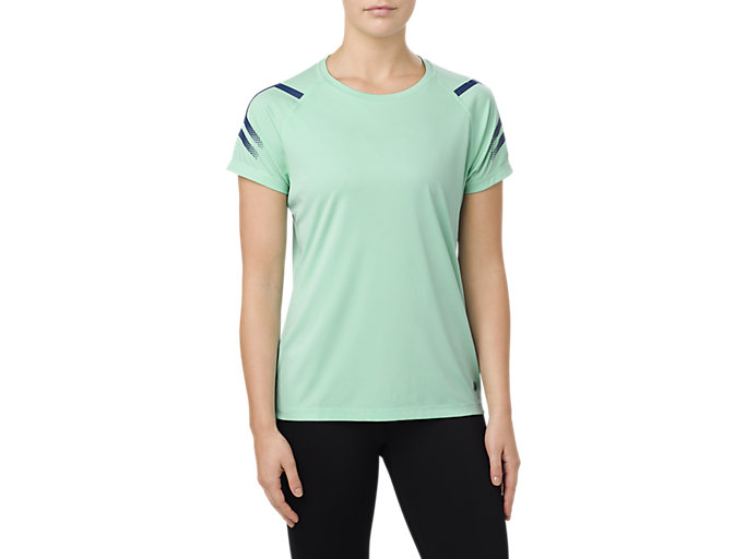 Women's ICON SS TOP | OPAL GREEN HEATHER | Shirts Met Korte ...