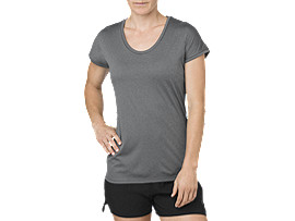TOP MET KAPMOUWEN, DARK GREY HEATHER