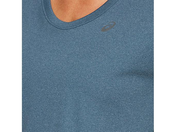 Alternative image view of CAPSLEEVE TOP, MAKO BLUE HEATHER