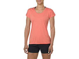 CAPSLEEVE TOP, CORALICIOUS HEATHER