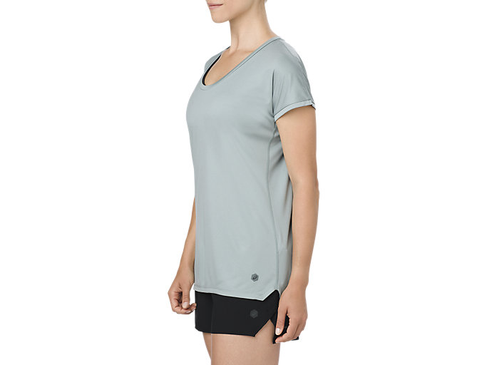 Alternative image view of CAPSLEEVE TOP, ABYSS HEATHER