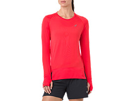 Front Top view of SEAMLESS LS, RED ALERT