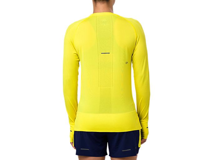 Back view of SEAMLESS LS, LEMON SPARK