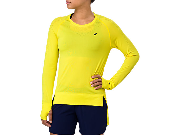 Front Top view of SEAMLESS LS, LEMON SPARK