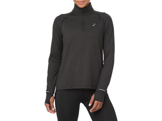 THERMOPOLIS LS 1/2 ZIP, SP PERFORMANCE BLACK
