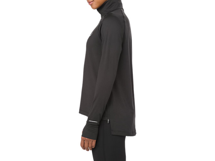 Side view of THERMOPOLIS LS 1/2 ZIP, SP PERFORMANCE BLACK