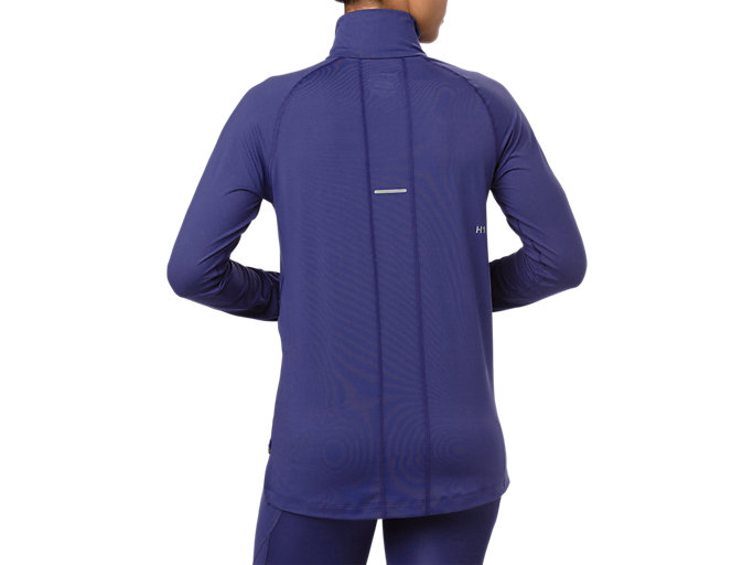 Back view of THERMOPOLIS LS 1/2 ZIP, INDIGO BLUE