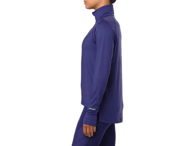 Side view of THERMOPOLIS LS 1/2 ZIP, INDIGO BLUE