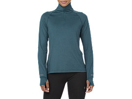 THERMOPOLIS LS 1/2 ZIP, BLUE STEEL HEATHER