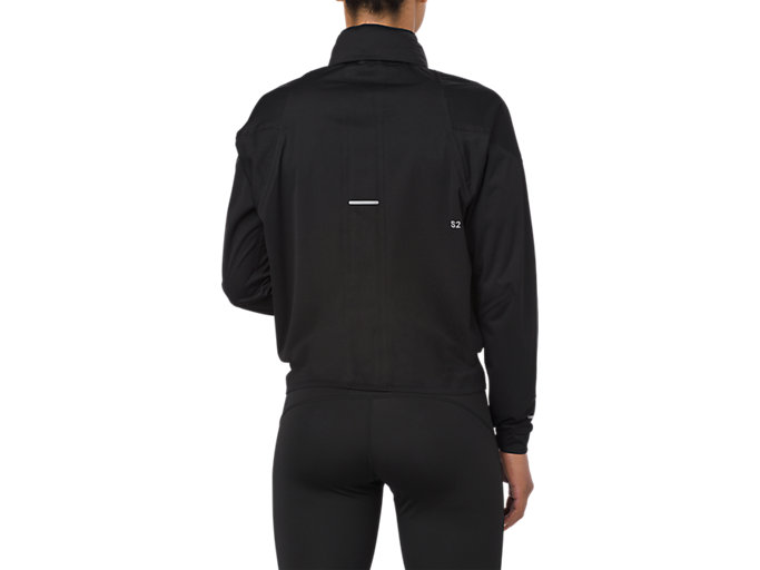 Back view of ACCELERATE JACKET, SP PERFORMANCE BLACK