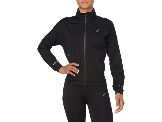 Front Top view of ACCELERATE JACKET, SP PERFORMANCE BLACK