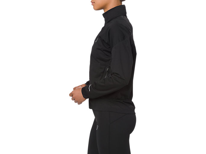 Side view of ACCELERATE JACKET, SP PERFORMANCE BLACK